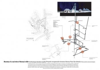 Recovery of a coal mine of Hunosa in Aller-Proyecto recuperación terrenos Hunosa Pozo San Antonio. Europan First Prize