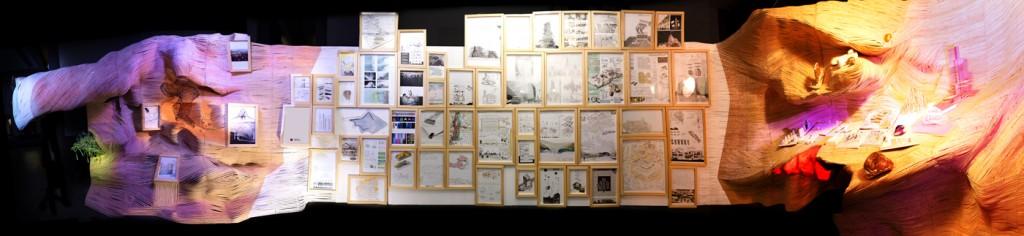 Instalación que recoge los trabajos de alumnos de arquitectura de la UEM